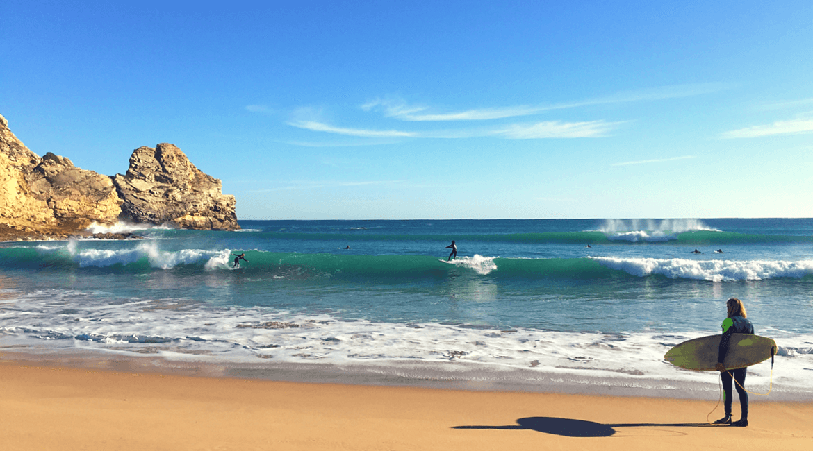 Algarve im Winter surfen