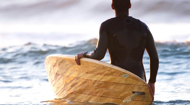 Holz Surfbrett Holz Surfboard Kun_Tiqi