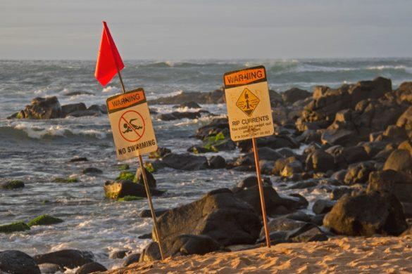 Strömung im Meer - Undertow, Rip Current und Rip Tide