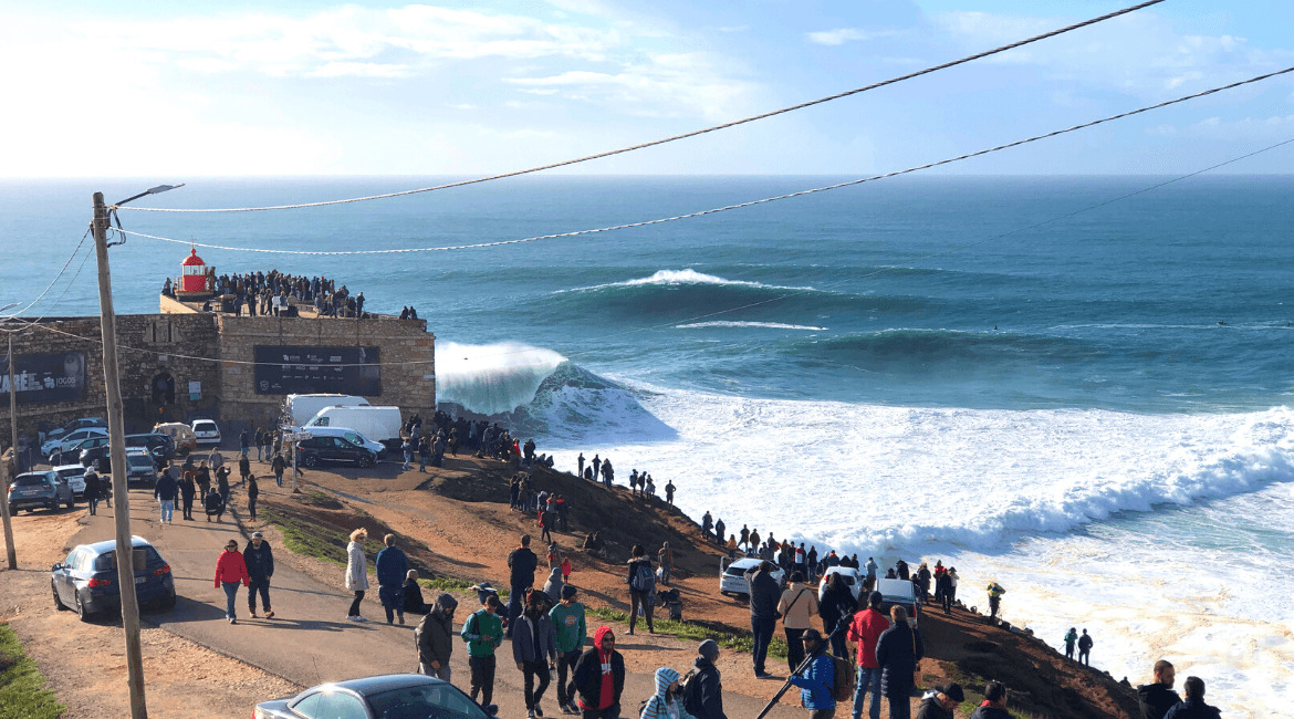 Nazare in Portugal - Big Wave Surfen