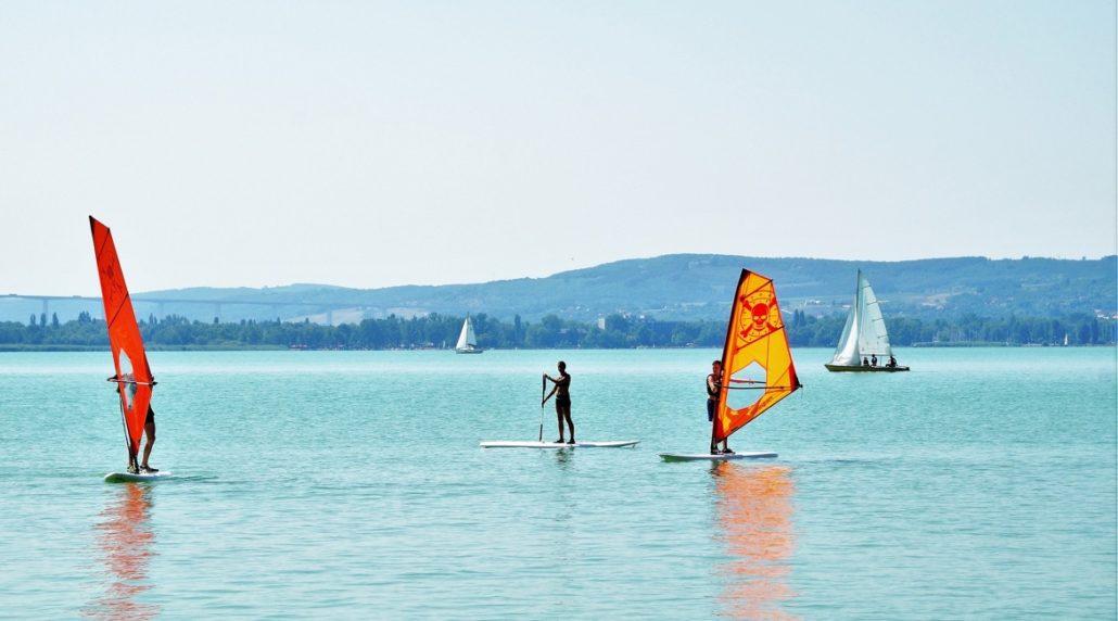 Windsurfen lernen - See
