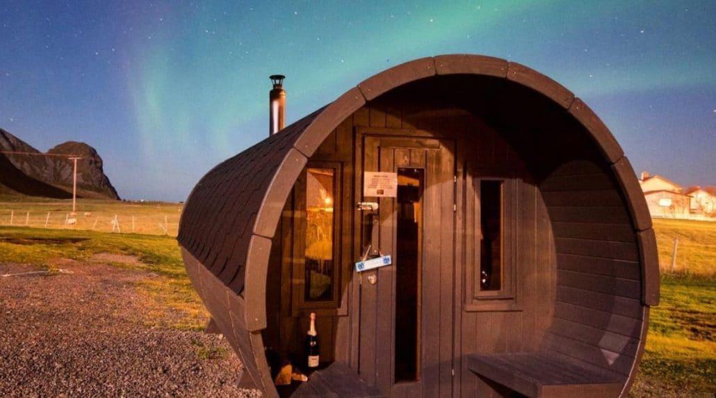 Lofoten  - Unstad Arctic Surf Sauna