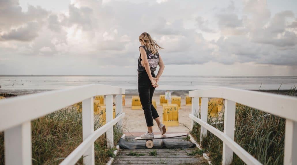 Balance Board - Surfen üben an Land