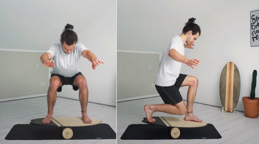 Balance Board Training für Surfer - Matte